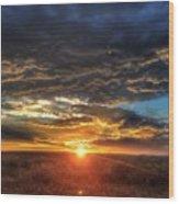 Colorado Plains Sunset Wood Print