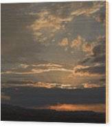 Colorado Radient Sunset Wood Print