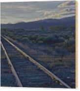 Colorado Railroad Crossing Wood Print