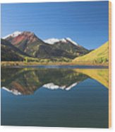 Colorado Reflections Wood Print