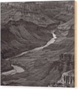 Colorado River At Desert View Grand Canyon Wood Print