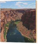 Colorado River At Glen Canyon Dam Wood Print