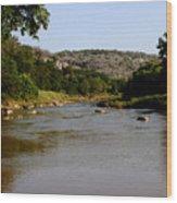 Colorado River Bend Texas Wood Print