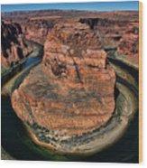 Colorado River Circles Horseshoe Bend Page Arizona Usa Wood Print