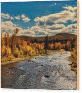 Colorado River In Autumn Wood Print