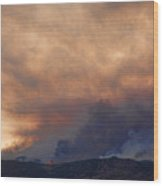 Colorado Rockies On Fire Wood Print by James BO  Insogna