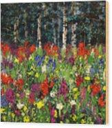 Colorado Rockies Wildflowers Wood Print
