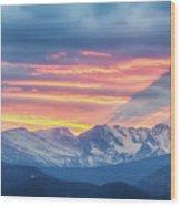 Colorado Rocky Mountain Sunset Waves Of Light Part 1 Wood Print
