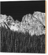 Colorado Rocky Mountains Indian Peaks Fine Art Bw Print Wood Print