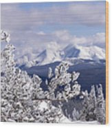 Colorado Sawatch Mountain Range Wood Print
