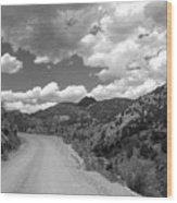 Colorado Shelf Road 1 B-w Wood Print