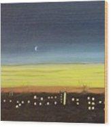 Colorado Spring Night Skyline Wood Print