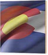 Colorado State Flag Wood Print