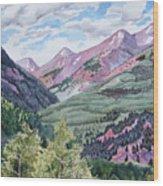 Colorado Valley Wood Print