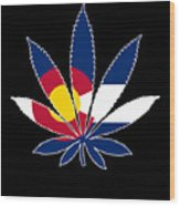 Colorado Weed Leaf Wood Print