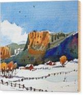 Colorado Winter 6 Wood Print