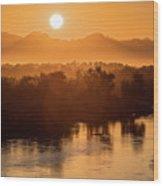 Coloradoriversunrise-yuma Wood Print