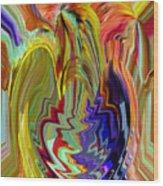 Colorburst Vase Wood Print