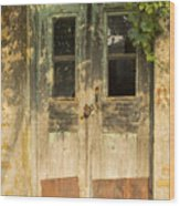 Colorful Zeytinli Village Door Wood Print