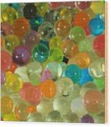 Colored Balls Wood Print