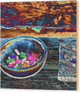 Colored Chalk Wood Print