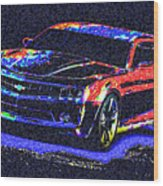 Colored Chevy Faa2 Wood Print