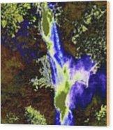 Colored Falls  Wood Print