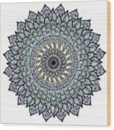 Colored Flower Zentangle Wood Print