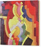 Colored Forms IIi By August Macke Wood Print