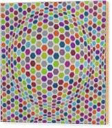Colored Geometries Wood Print