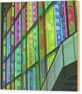 Colored Glass 1 Wood Print