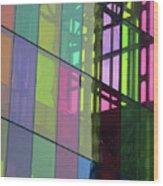 Colored Glass 11 Wood Print