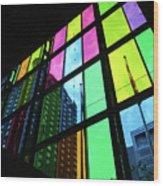 Colored Glass 3 Wood Print