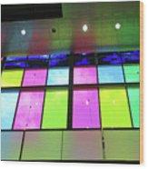 Colored Glass 8 Wood Print