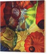 Colored Glass Art Wood Print