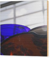 Colored Glass Horizon Wood Print