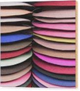 Colored Hat Brims Wood Print