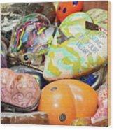 Colored Hearts Wood Print