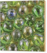 Colored Marbles Wood Print