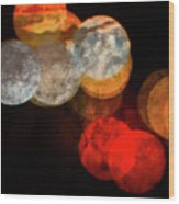 Colored Moons 1 Wood Print