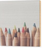Colored Pencils Wood Print by Cortney Herron