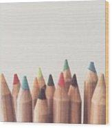 Colored Pencils Wood Print