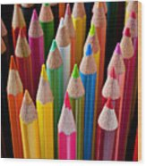 Colored Pencils Wood Print