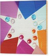 Colored Plexiglas Shapes Wood Print