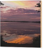 Colored Reflections Wood Print