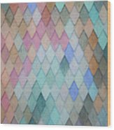 Colored Roof Tiles - Painting Wood Print