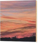 Colored Skies Wood Print