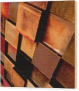 Colored Squares Wood Print