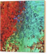 Colorful Abstract Art - Rejoice - Sharon Cummings Wood Print