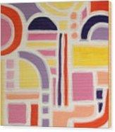 Colorful Abstract Art - Urban Maze Wood Print